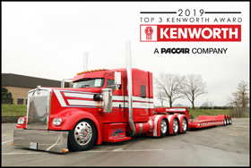 J&L Contracting's 2008 Kenworth W900L named Never Satisfied