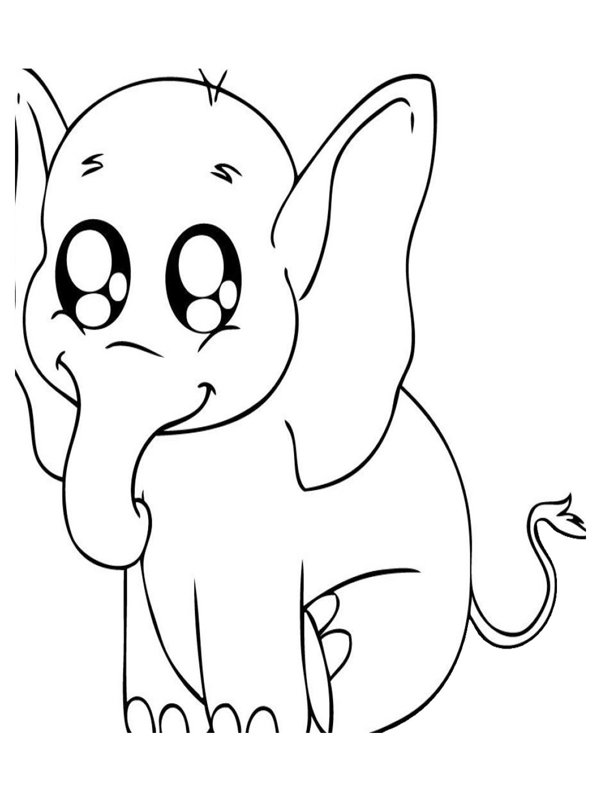 Baby Animal Coloring Pages Realistic Coloring Pages