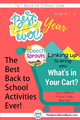 Best Back to School Activities for SLPs Ever! Linky Party with Speech Room News