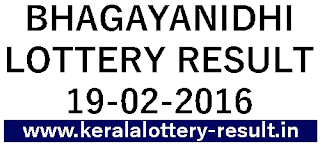Kerala lottery result, Bhagyanidhi Lottery result, Bhagyanidhi BN-225 lottery result, Today's Bhagyanidhi Lottery result today, 19-02-2016 Bhagyanidhi Lottery result, Bhagyanidhi BN 225 lottery result, Kerala Bhagyanidhi today 19-02-2016, Bhagyanidhi bn 225 lottery winning number, Todays lottery result Kerala, Kerala lotteries bhagyanidhi result BN 225