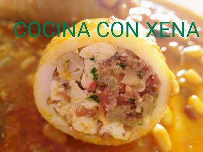 Cocina con xena calamares rellenos en ollas gm for Cocina con xena olla gm d