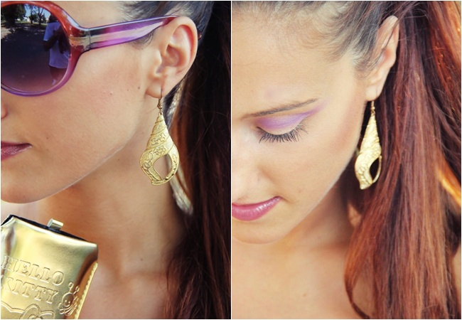 gold shell shape earrings