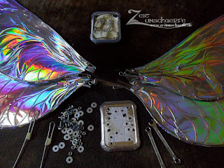 DIY Tutorial Fairy wings - wing assembly | www.zeitunschaerfe.de