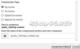 Cara Backup folder wp-content