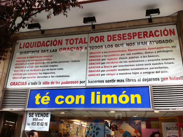 La crisis vista en una tienda en la calle López de Hoyos