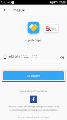cara daftar di aplikasi rupiah cepat