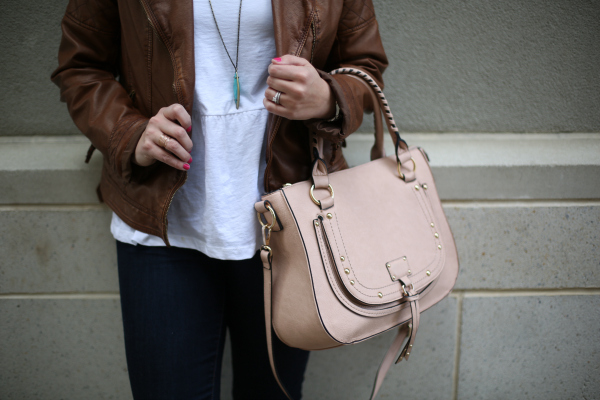 spring style, transitional style, style on a budget, how to style a faux leather jacket