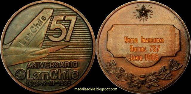 Medalla LAN Chile 57 Años
