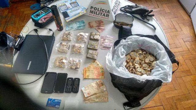 Polícia Militar de Cambuquira recupera dinheiro furtado de Casa Lotérica durante o Carnaval - Foto: PM