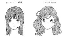 draw hair manga wavy anime hairstyles curly straight short before character