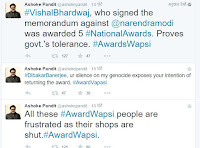 अशोक पंडित के #awardwapsigang ट्वीट1