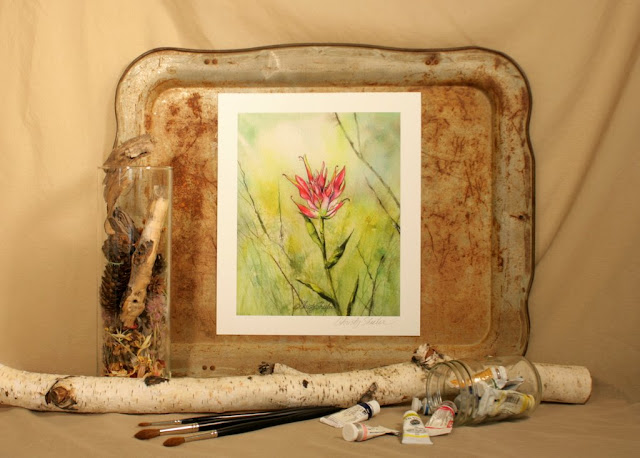 Indian Paintbrush Giclee Fine Art Print Christy Sheeler Artist Etsy shop