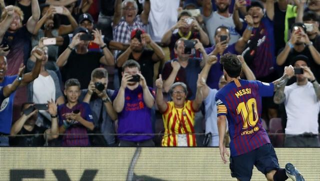 Lionel Messsi marcó el gol 6.000 del Barcelona en Liga