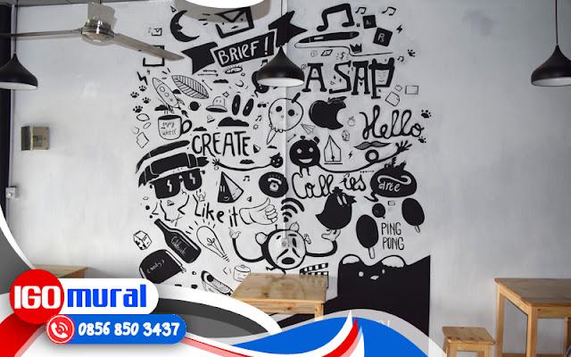 Cara membuat corak lukisan dinding cafe 3d pelukis mural for Mural untuk cafe