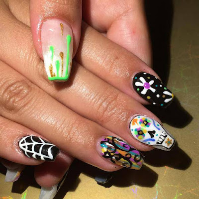 Colorful ,Mylar Nails Art ,Ideas For 2017