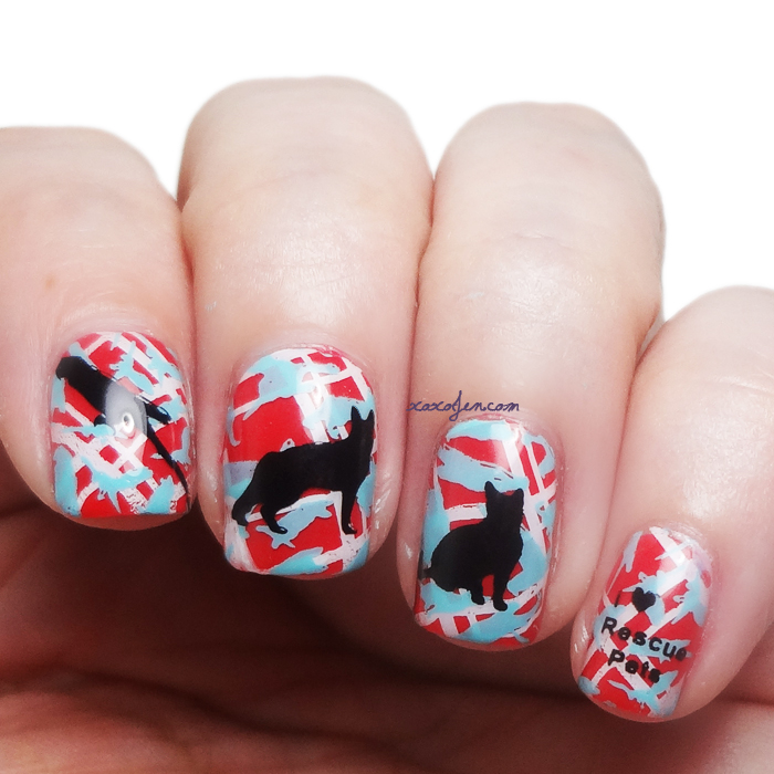 xoxoJen's swatch of Rescue pets nail art