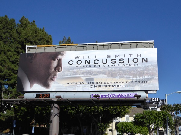 Will Smith Concussion billboard
