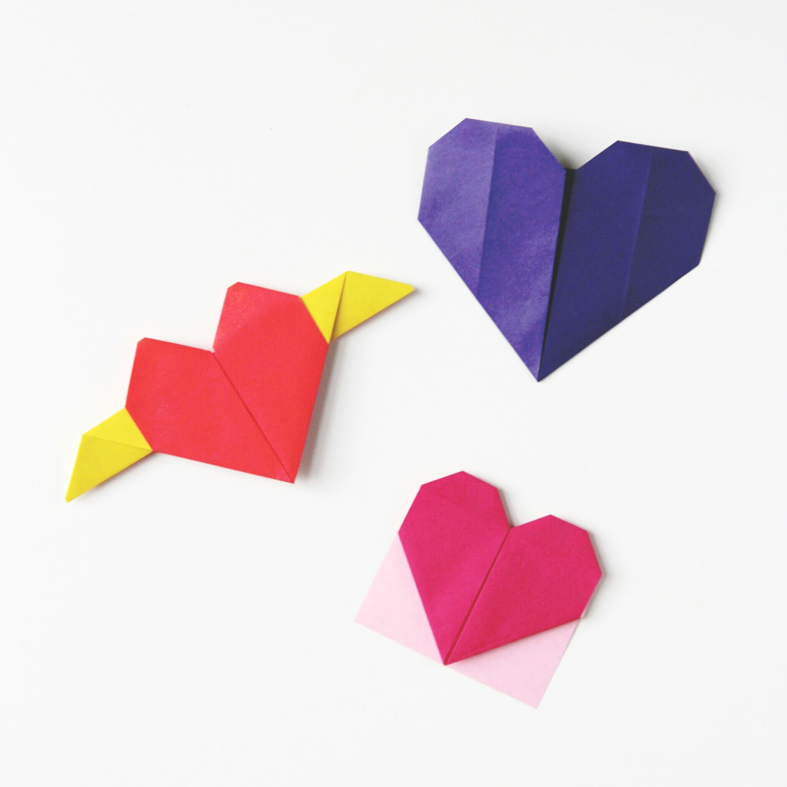 Valentine's Day Origami Hearts - Three Ways.