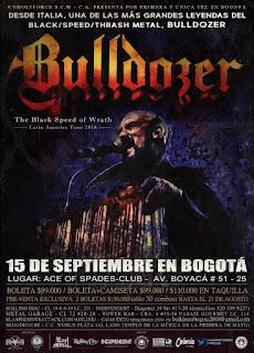 POSTER de BULLDOZER en Bogota 2018