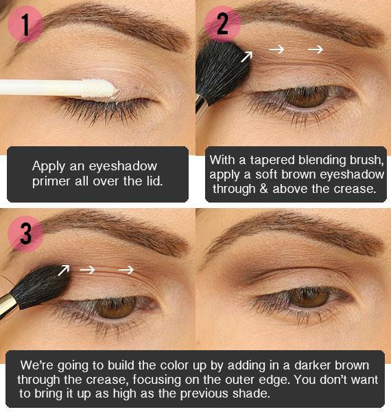Eye Makeup Brown Smokey Tutorial