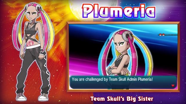 Team Skull Admin Big Sister Plumeria Pokémon Sun Moon