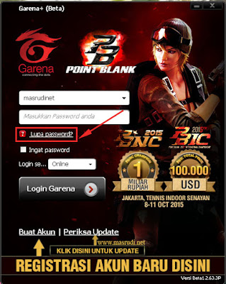 Lupa Password PB FO3 Garena