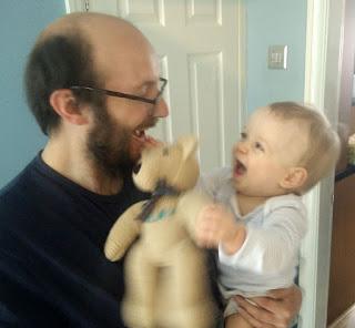 Harry loves his new teddy bear