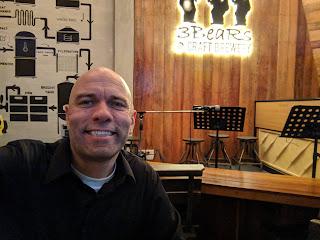 This is me, Joseph Dewey, at a restaurant