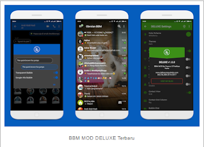 Download BBM MOD DELUXE v1.0.0 Base [3.3.2.31] Apk Terbaru