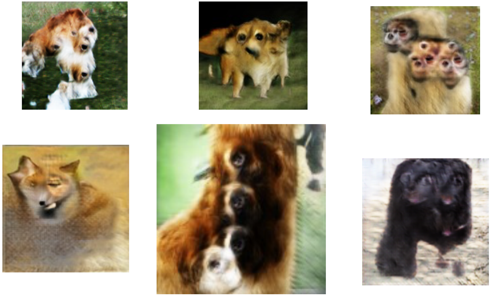 Examples Of Animals Generated With The Wrong Number Of Body Parts, Produced  Using Previous Gan Models Trained On 128x128 Imagenet Dataset