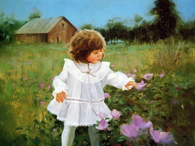 Donald Zolan e suas pinturas com crianças