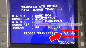 Cara mentransfer Uang Lewat ATM BRI ke BCA