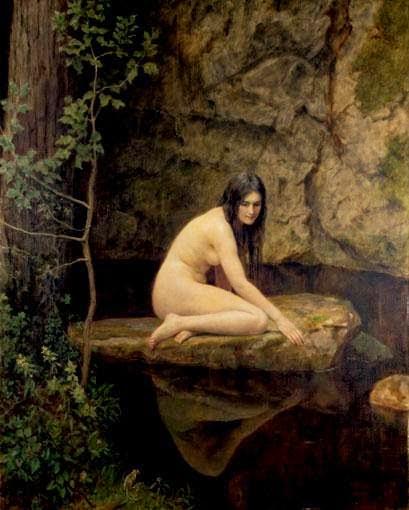 A Ninfa da Água - Jhon Collier e suas pinturas belíssismas | Neoclassicismo