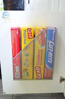 organizzare le pellicole e alluminio in cucina