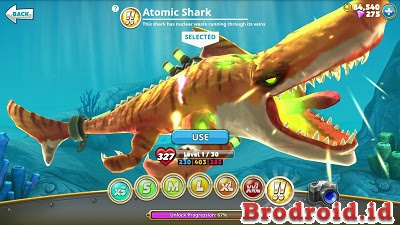 Hungry Shark World MOD APK+Data Atomic Shark v1.8.4 Terbaru