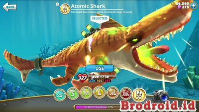 Hungry Shark World MOD APK+Data Atomic Shark v1.8.4 Terbaru