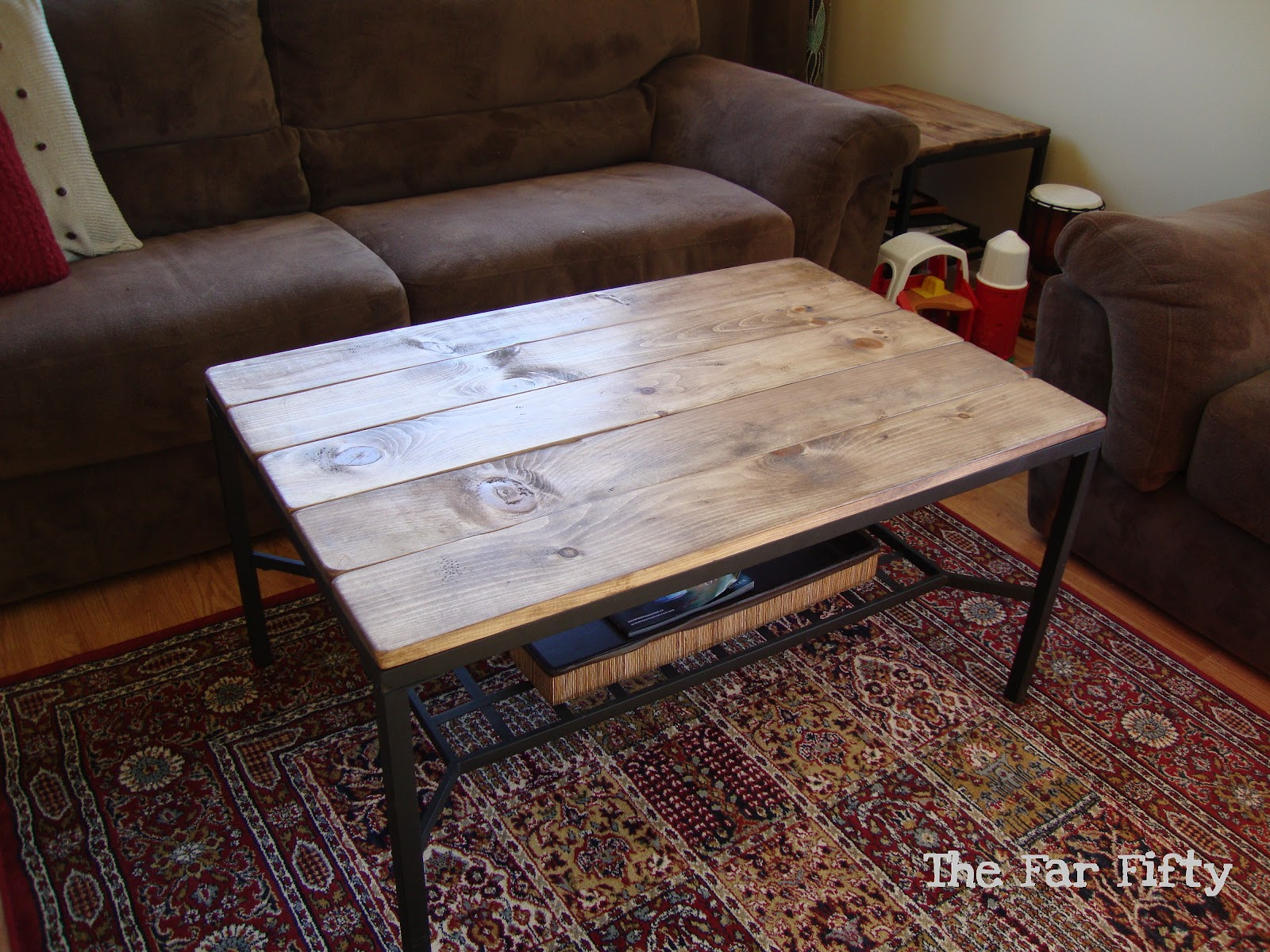 The Far Fifty: Coffee table/Ikea hack