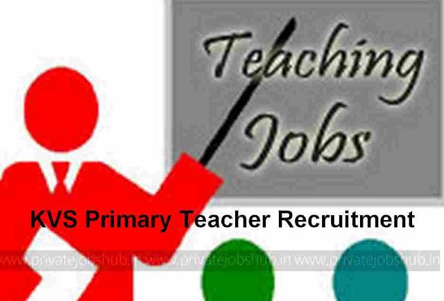 KVS Primary Teacher Recruitment