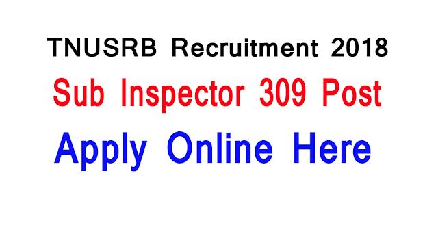 TNUSRB SI Recruitment