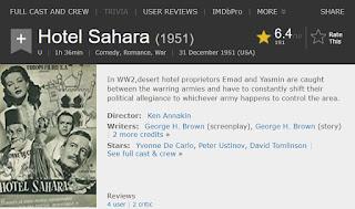 Hotel Sahara - IMDB Link