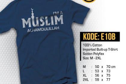 I'm a Muslim, Alhamdulillah Kaos Muslim El-Badr