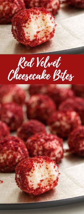 Red Velvet Cheesecake Bites