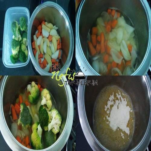 Brokoli Çorbası Malzemeleri