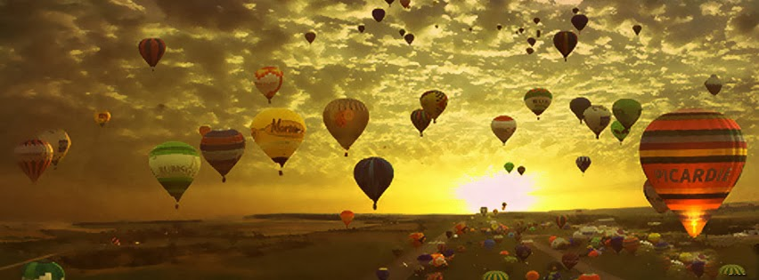 a beautiful parachute facebook cover photo