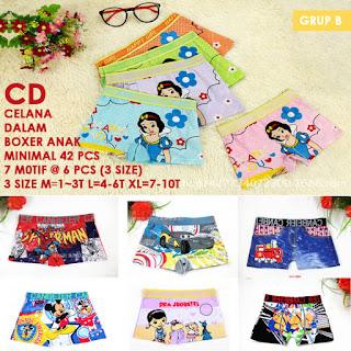 supplier cd boxer anak laki perempuan