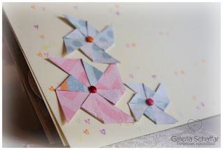 papierowe wiatraki wiatraczki z papieru jak origami album w pastelach