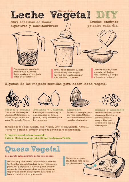LECHE VEGETAL - SEMILLAS Y FRUTOS SECOS
