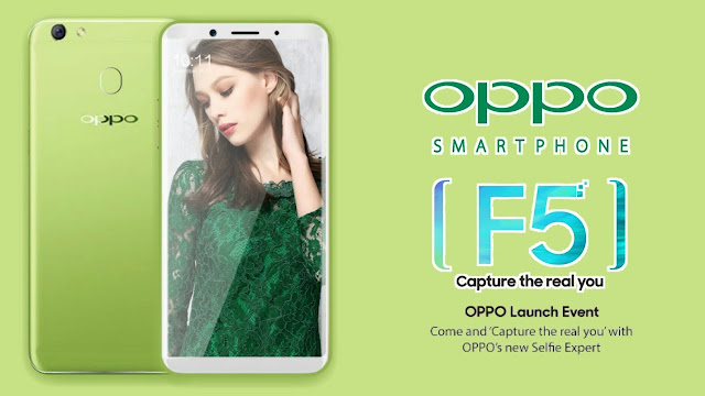 Oppo F5 phablet expected to feature a 6-inch full HD+ display.