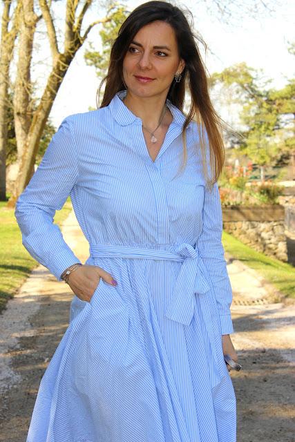 look du jour, robe Mark & spencer, rayures, stripes, Les petites bulles de ma vie