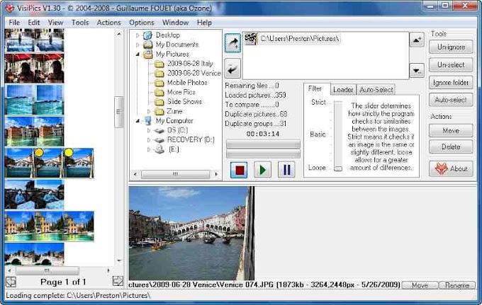 VisiPics - Βρείτε τις διπλές και τριπλές φωτογραφίες στον υπολογιστή σας!